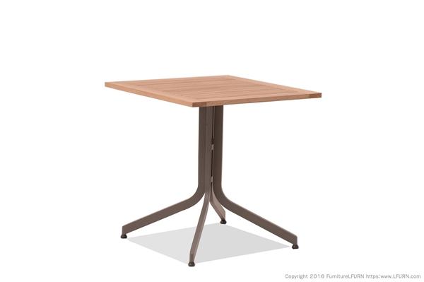 โต๊ะอลูมิเนียมหน้าโต๊ะไฟเบอร์แบบพับได้  TEAK/ALUMINIUM FOLDING TABLE