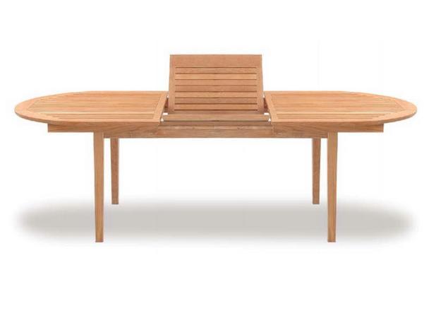TEAKWOOD TARA OVAL EXTENSION TABLE