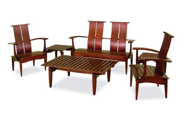 ชุดโต๊ะกาแฟพร้อมโซฟาและโต๊ะข้างทำจากไม้เนื้อแข็ง APOLLO COFFEE SET