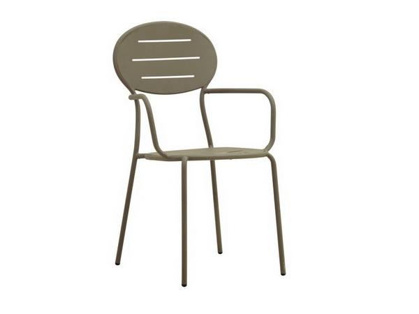 เก้าอี้สแตนเลสแบบซ้อนได้ STACKING ARMCHAIR