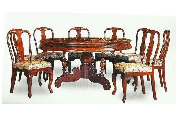 ชุดโต๊ะอาหารพร้อมเก้าอี้ทำจากไม้ประดู่แบบจีน ROSEWOOD DINING SET