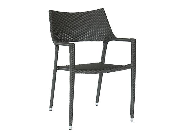 เก้าอี้หวายสังเคราะห์โครงอลูมิเนียมแบบซ้อนได้ POLYRATTAN ARMCHAIR
