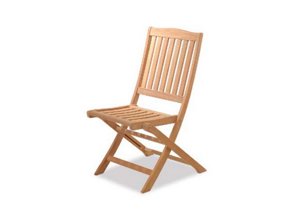 TEAKWOOD FOLDING SIDECHAIR