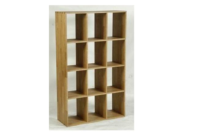 ชั้นวางหนังสือ 4 ชั้น 3 แถวทำจากไม้สัก BOOK SHELF