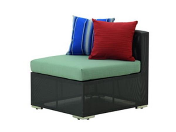 SIDE SOFA WITH SYNTHETIC FABRIC  AND SUNBRELLA CUSHION