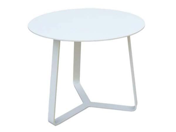 โต๊ะกาแฟอลูมิเนียมหน้าโต๊ะทรงกลม ALUMINIUM END TABLE