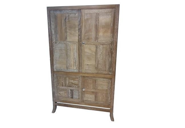 ตู้โทรทัศน์ทำจากไม้สักทองบานพับเก็บได้ BIG T.V. CABINET