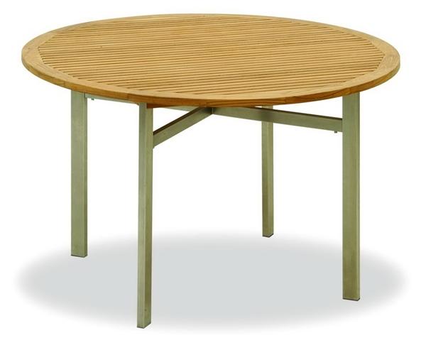 TEAKWOOD/STAINLESS STEEL 1.2 ROUND TABLE