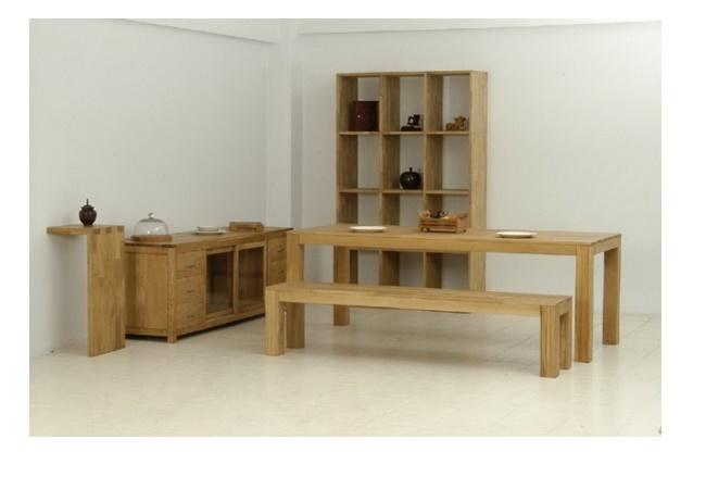 ชุดโต๊ะอาหารไม้โอ๊คมาพร้อมตู้อเนกประสงค์,ชั้นวางของ,ชั้นวางหนังสือเข้าชุด SUSSEX DINING SET WITH TV CABINET & BOOK SHELF
