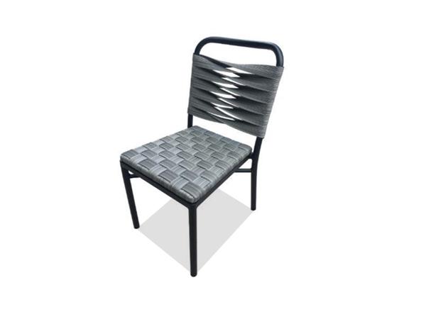 เก้าอี้หวายสังเคราะห์โครงอลูมิเนียม POLYRATTAN /ALUMINIUM SIDECHAIR