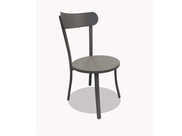 เก้าอี้อลูมิเนียมทำสีพาวเดอร์โค้ททรงกลม ALUMINIUM SIDECHAIR