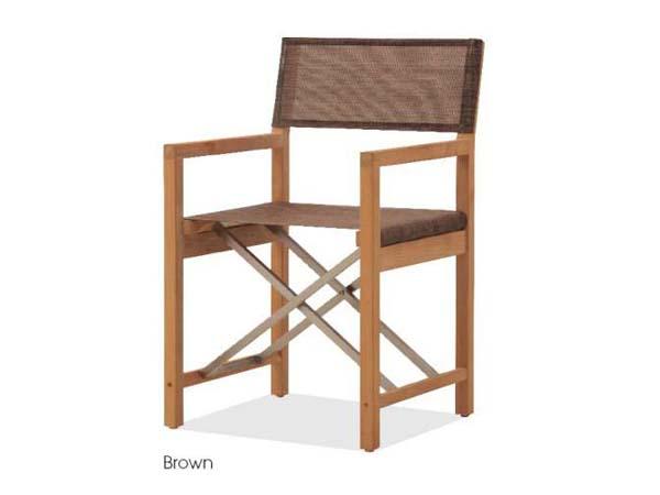 เก้าอี้พับโครงไม้สักมีที่ท้าวแขนบุผ้าสังเคราะห์นำเข้าจากอเมริกา TEAK / STAINLESS STEEL DIRECTOR CHAIR WITH SYNTHETIC FABRIC