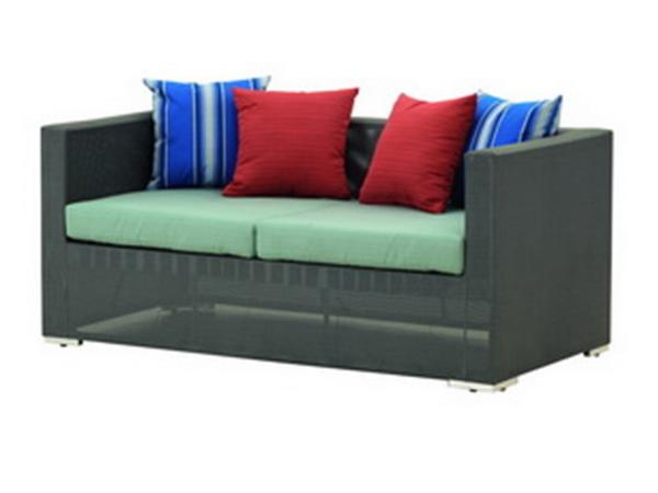 2-SEATER SOFA WITH SYNTHETIC FABRIC AND SUNBRELLA CUSHION