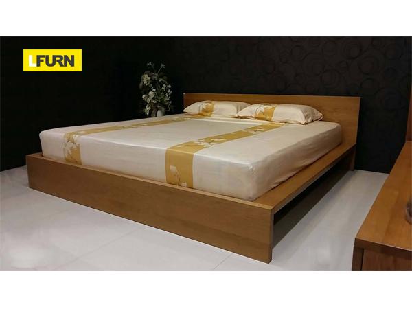 เตียงนอนทำจากไม้โอ๊ค 6 ฟุต OakWood Double Bed