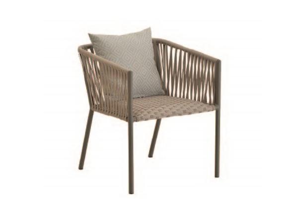เก้าอี้อลูมิเนียมถักด้วยเชือก ALUMINIUM 1-SEATER CHAIR WITH ROPE AND BUILT IN CUSHION