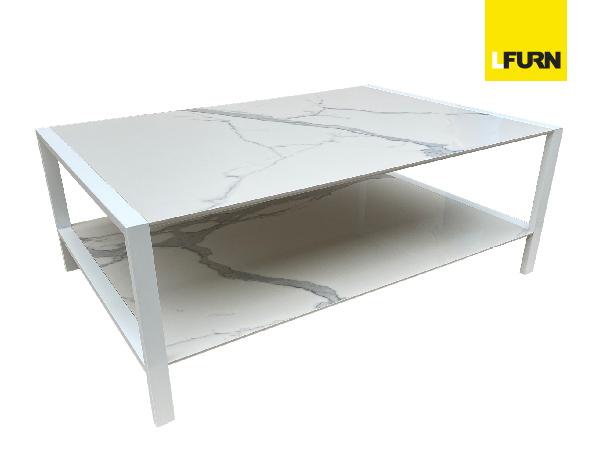 STAINLESS STELL WITH POWER COAT / CERAMIC COFFEE TABLE | โต๊ะกาแฟท็อปโต๊ะเซรามิกลายหินอ่อน