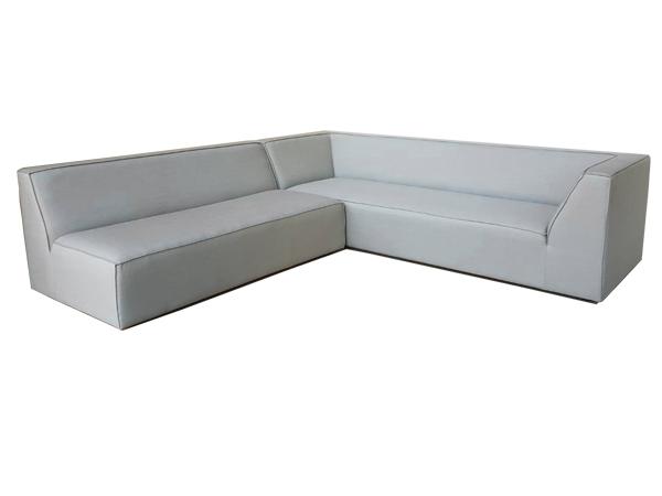 Aluminium Sofa With Built in Cushion (TAUPE)